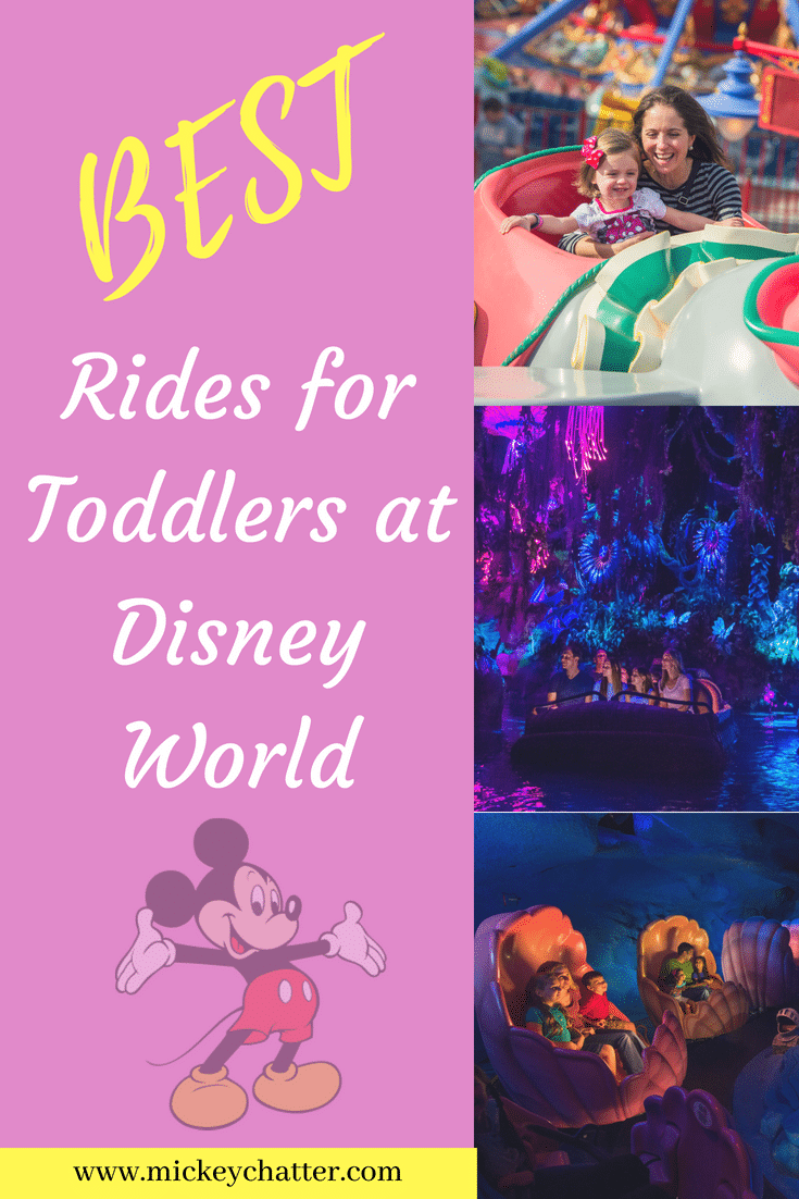 A list of the best rides for toddlers at the Disney World parks #disneyworld #disneyrides #disneyfortoddlers #disneytrip #disneyvacation