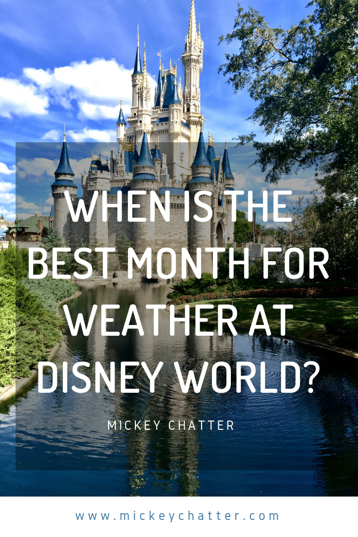 When is the best month to visit Florida for your next vacation to Disney World? #disneyworld #floridaweather #disneyplanning #disneytrip #disneyvacation