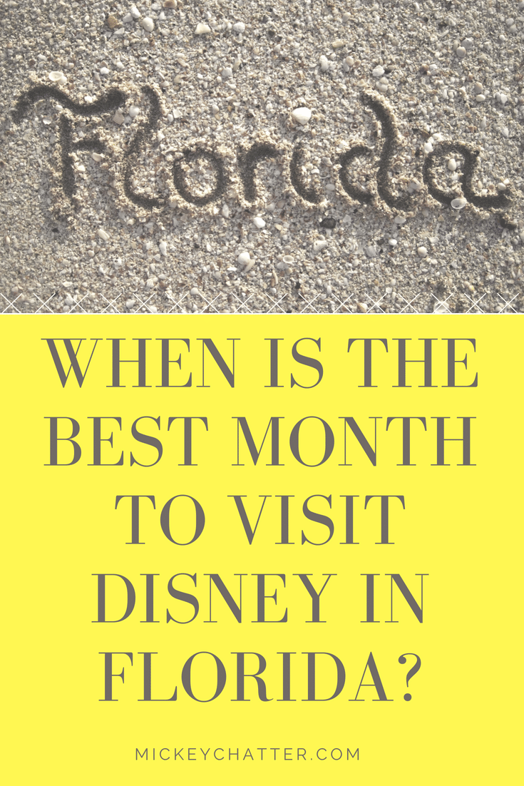 When is the best month to visit Florida? I take a look at the different weather patterns and when would be best for your Disney vacation. #disneyworld #florida #disneyvacation #disneytrip #disneyplanning #floridaweather