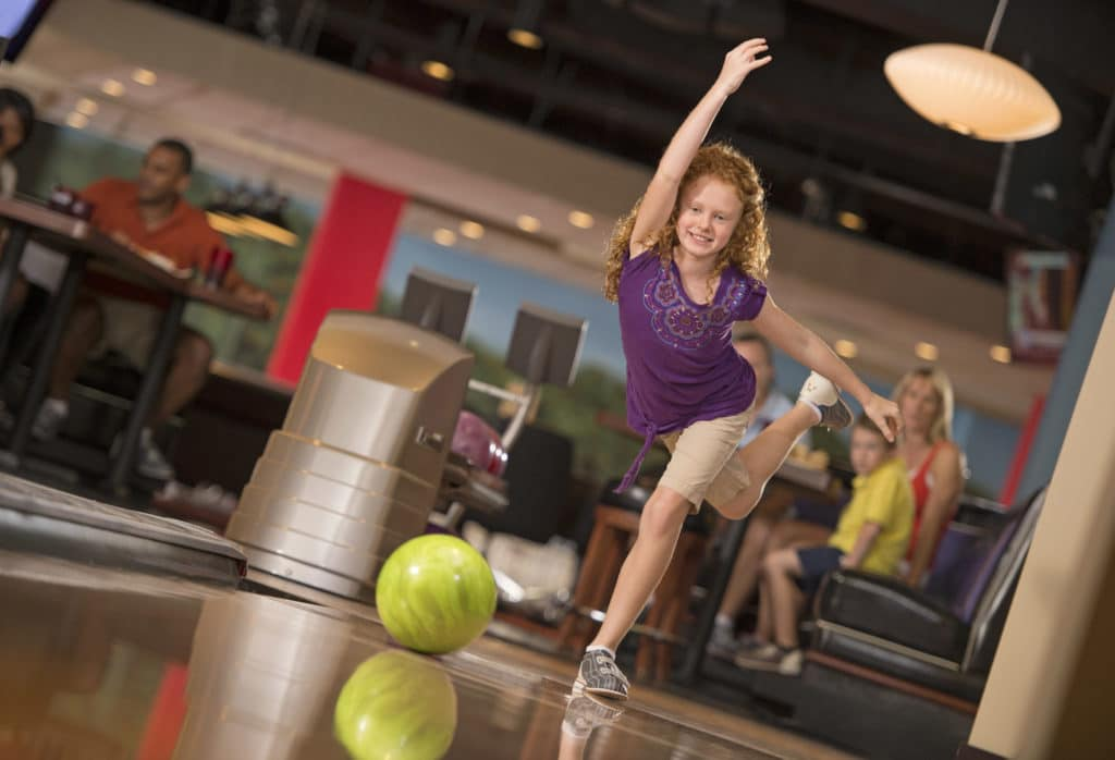 Bowling at Splitsville Luxury Lanes at Disney Springs