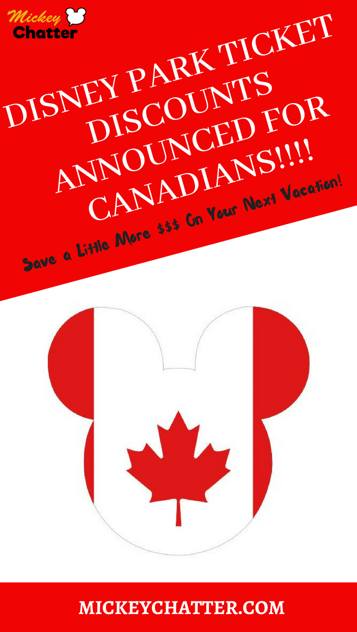 Disney Canadian Resident ticket offer for 2018. Get your park ticket discounts now for your next vacation!!! #disneyworld #disneytravelagent #disneydeals #disneytickets