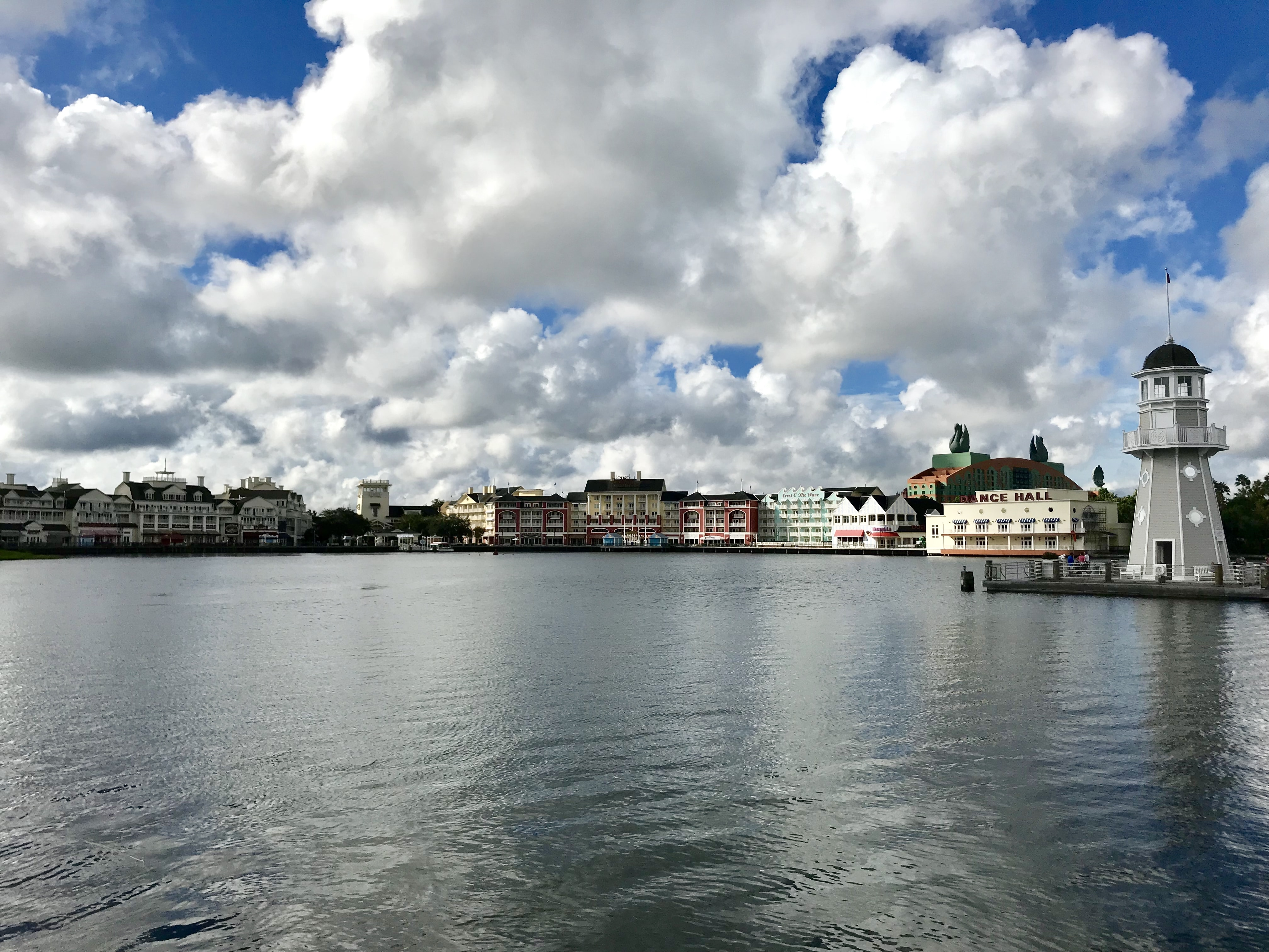 View of the Boardwalk Inn across the water from Disney's Beach & Yacht Club