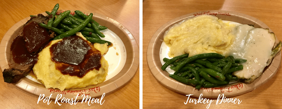 Turkey and pot roast meals at Disney Pop Century food court