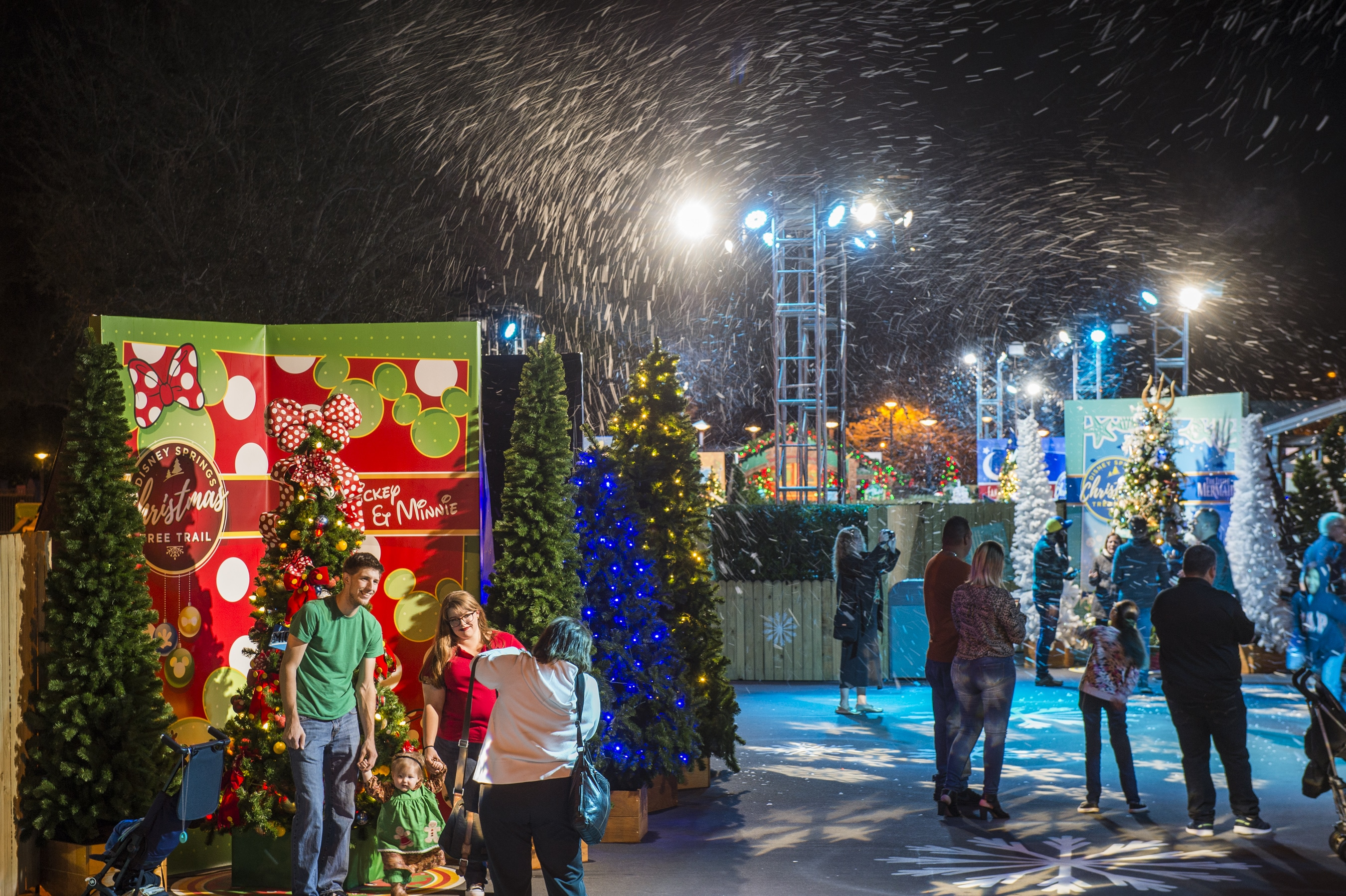 The Disney Springs' Christmas Tree Trail