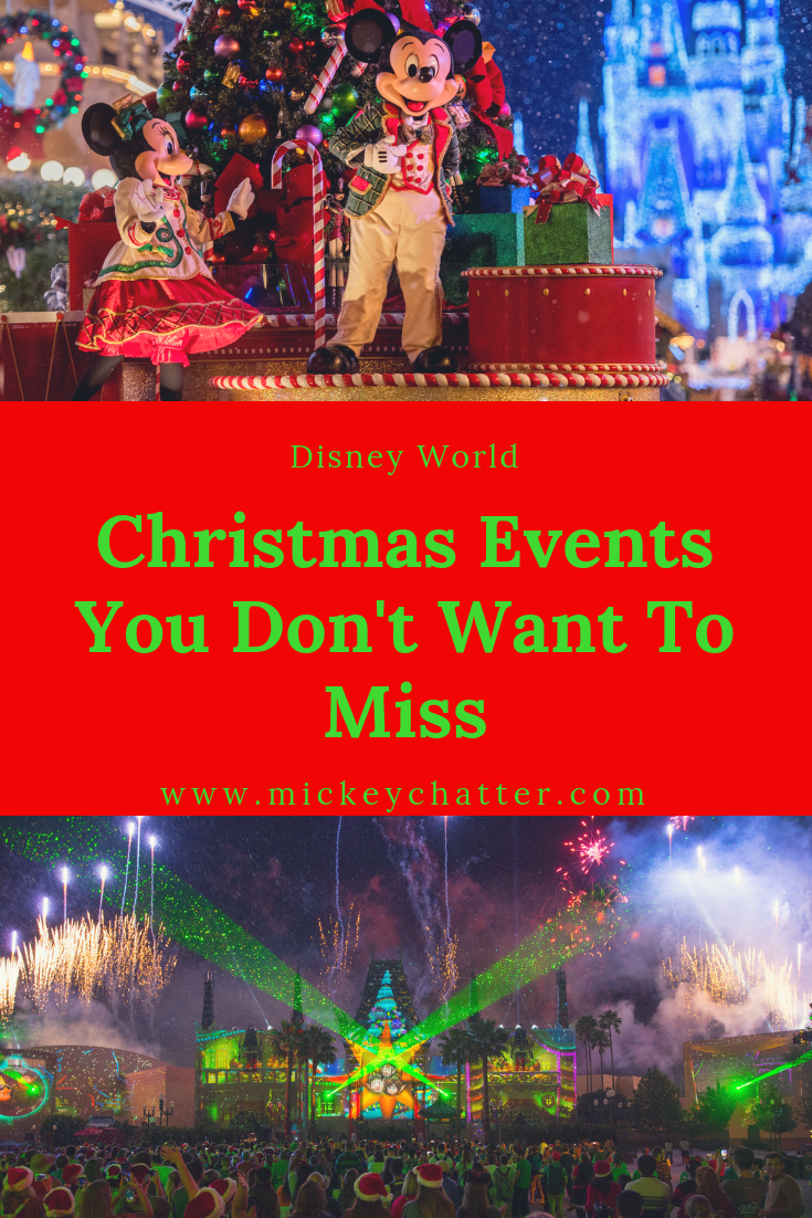 Christmas events at Disney World that you don't want to miss! #disneyworld #disneytrip #disneyvacation #disneyplanning #disneyevents #christmasatdisney