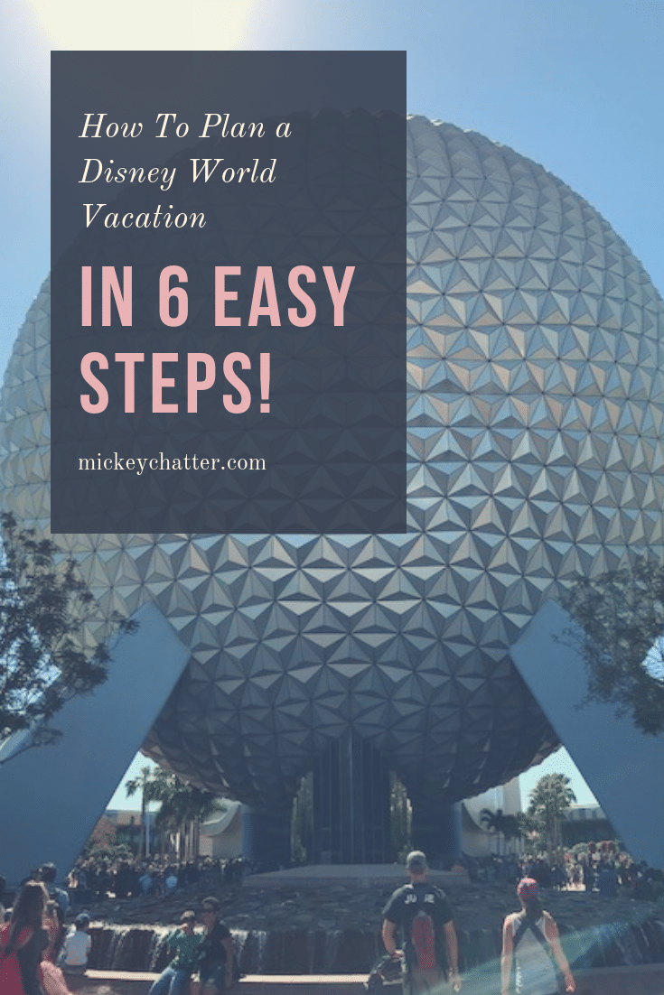 Learn how to plan a Disney World vacation in 6 easy steps (or 1 super easy step)! #disneyworld #disneyplanning #disneyvacation #disneytrip