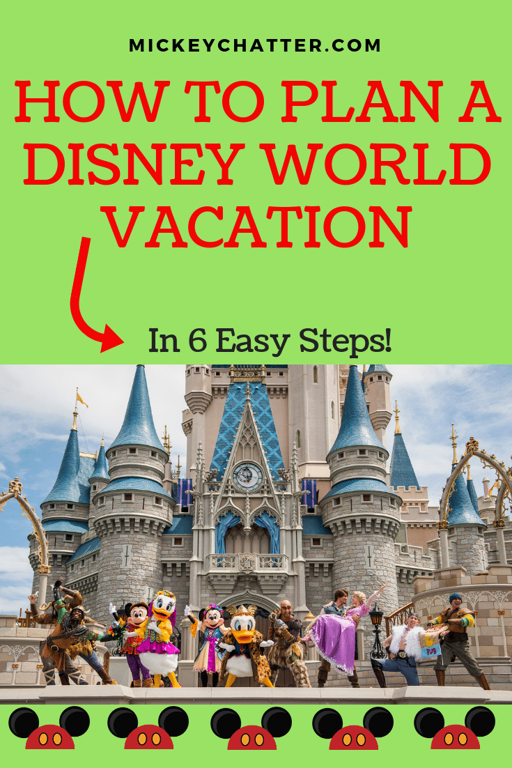 How to plan a Disney World vacation in 6 easy steps! #disneyworld #disneyvacation #disneytrip #disneyplanning