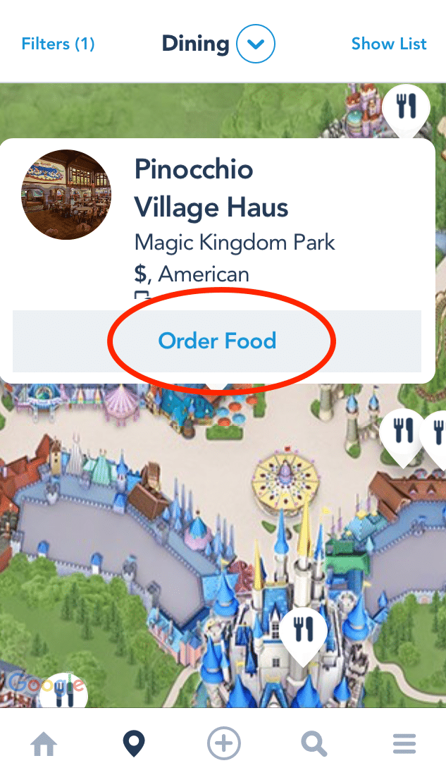 Disney World Mobile Ordering #disneyworld #disneyfood #disneytravelagent