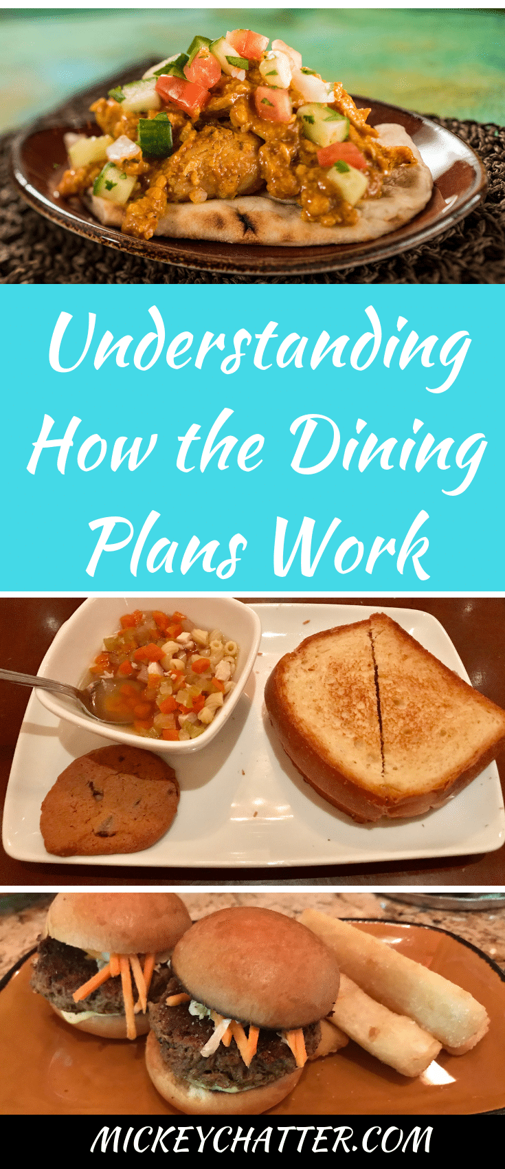 Understanding the Disney World dining plans and how they work. How to know which one is right for you! #disneyworld #disneydining #disneydiningplans #disneyfood #disneyvacation #disneytrip #disneyplanning