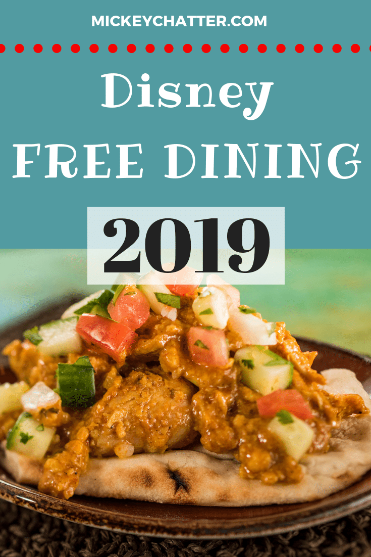 Disney World Free Dining Offer for 2019, don't miss out on the most popular offer of the year!! #disneyworld #disneyfood #disneyfreedining #disneyvacation #disneytrip #disneydeals