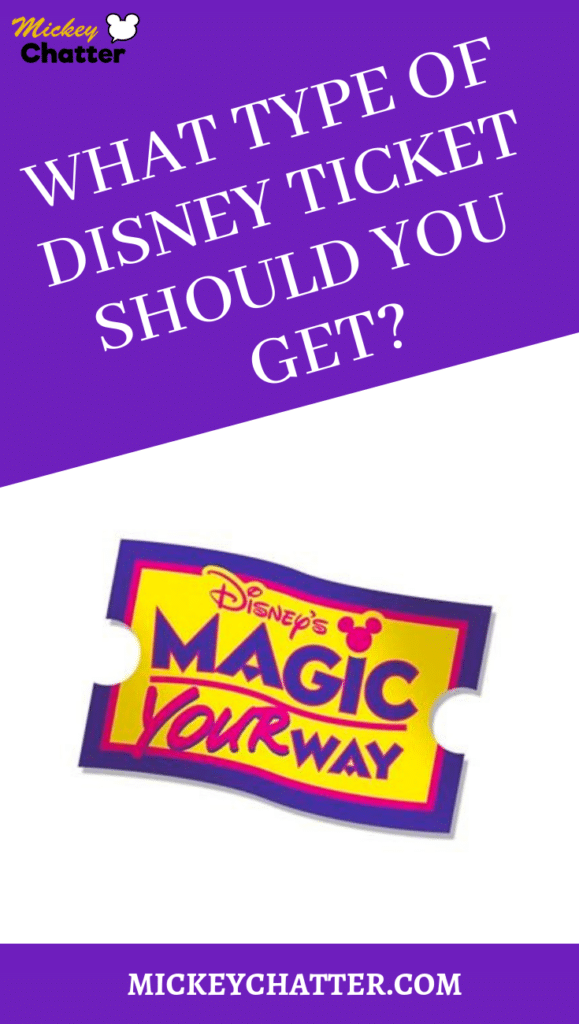 What type of Disney World ticket will you need for your trip? Learn about the different options and find out which one is best for you! #disneyworld #disneyworldtickets #disneytickets #disneytrip #disneyvacation #disneyplanning