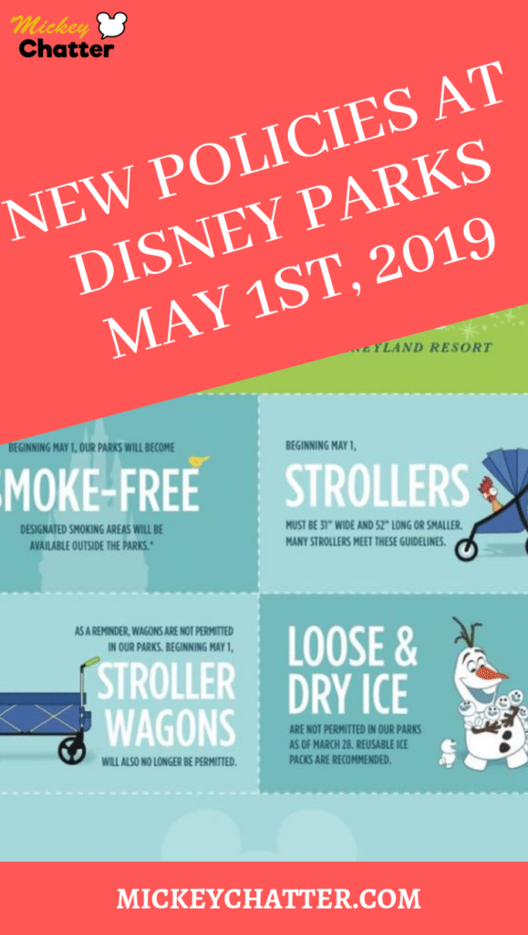 New policy changes at the Disney Parks taking affect May 1st, 2019. Make sure you know about these changes affecting strollers, smoking areas and loose ice! #disneyworld #disneyparks #disneypolicies #disneytravelagent #disneytravelplanner #disneytrip #disneyvacation
