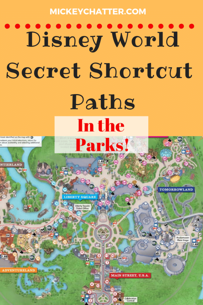 Disney World secret shortcut paths you need to know about in the parks before your next vacation! #disneyworld #disneytrip #disneyvacation #disneyparks #disneytravelagent #disneytravelplanner