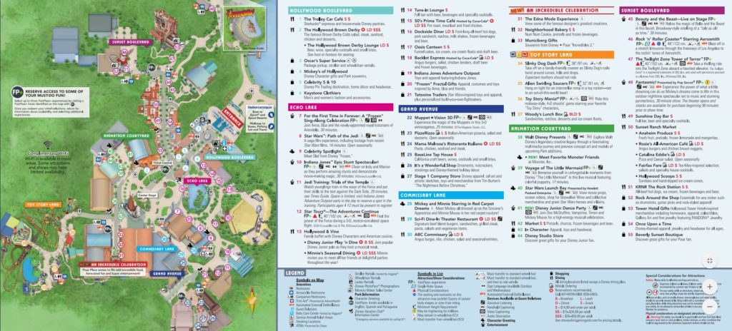 Hollywood Studios park map
