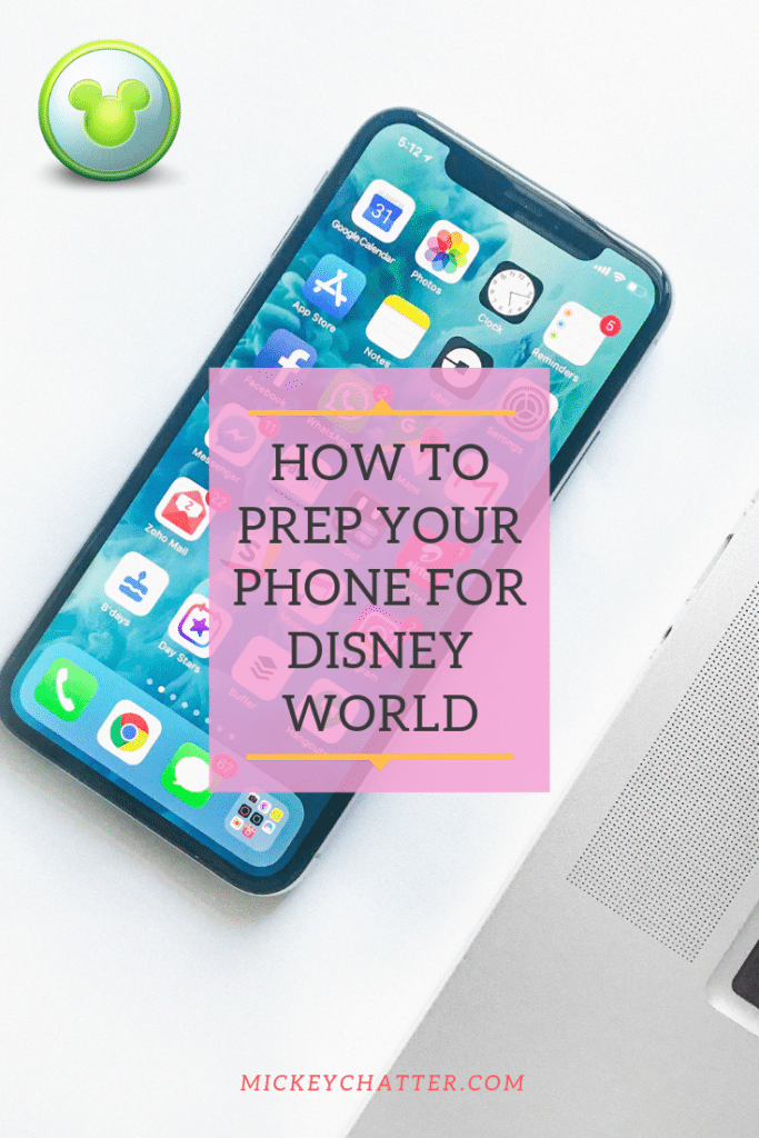 How to prep your phone for Disney World so that it is ready and you can have a smooth vacation #disneyworld #disneytrip #disneyvacation #disneytravelagent #disneyplanner