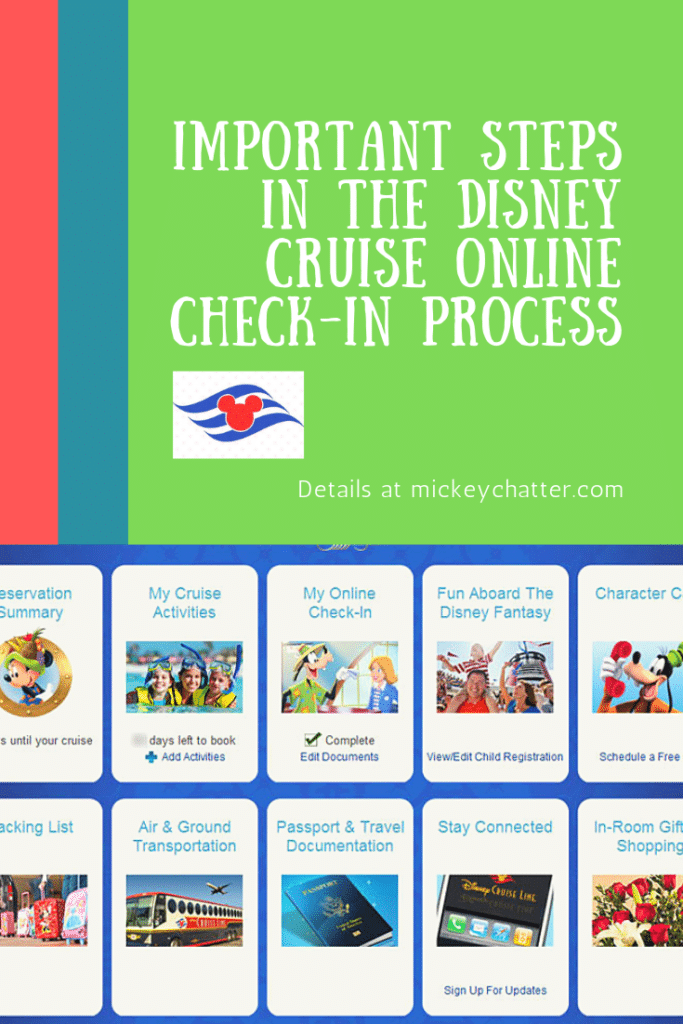 Important steps to complete during your Disney Cruise online check-in process #disneytravelagent #disneytravelplanner #disneycruiseline #disneycruise