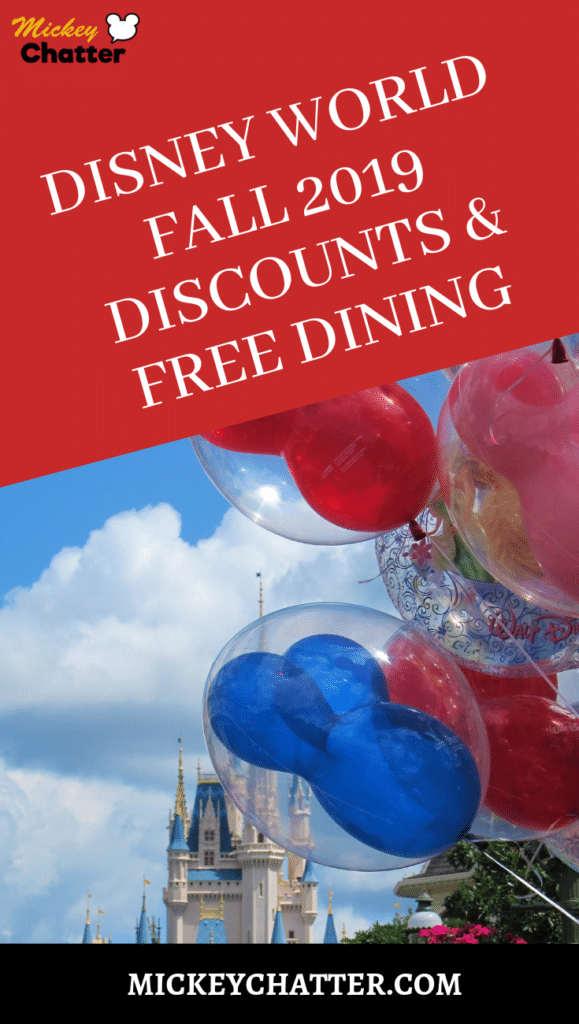 Fall 2019 Disney World discounts just released, and it includes FREE DINING! #disneyworld #freedining #travelagent #disneytrip #disneyvacation #disneyplanning #disneytravelagent #disneytravelplanner