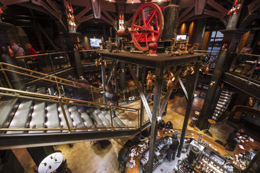 The Edison at Disney Springs, great dining option for Disney World for adults #disneyworld #disneyworldforadults #theedison #disneysprings #disneydining #travelagent