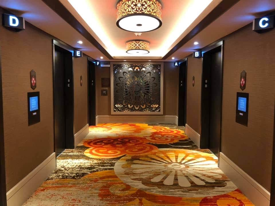 Disney's Coronado Springs Gran Destino Hallways, the decor is just fabulous! #disneyworld #coronadospringsresort #disneyresort #travelagent #grandestino