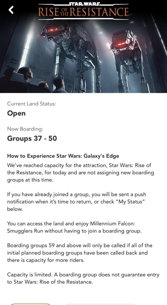 How to join a boarding group for Rise of the Resistance! #disneyworld #riseoftheresistance #starwars #hollywoodstudios #travelagent