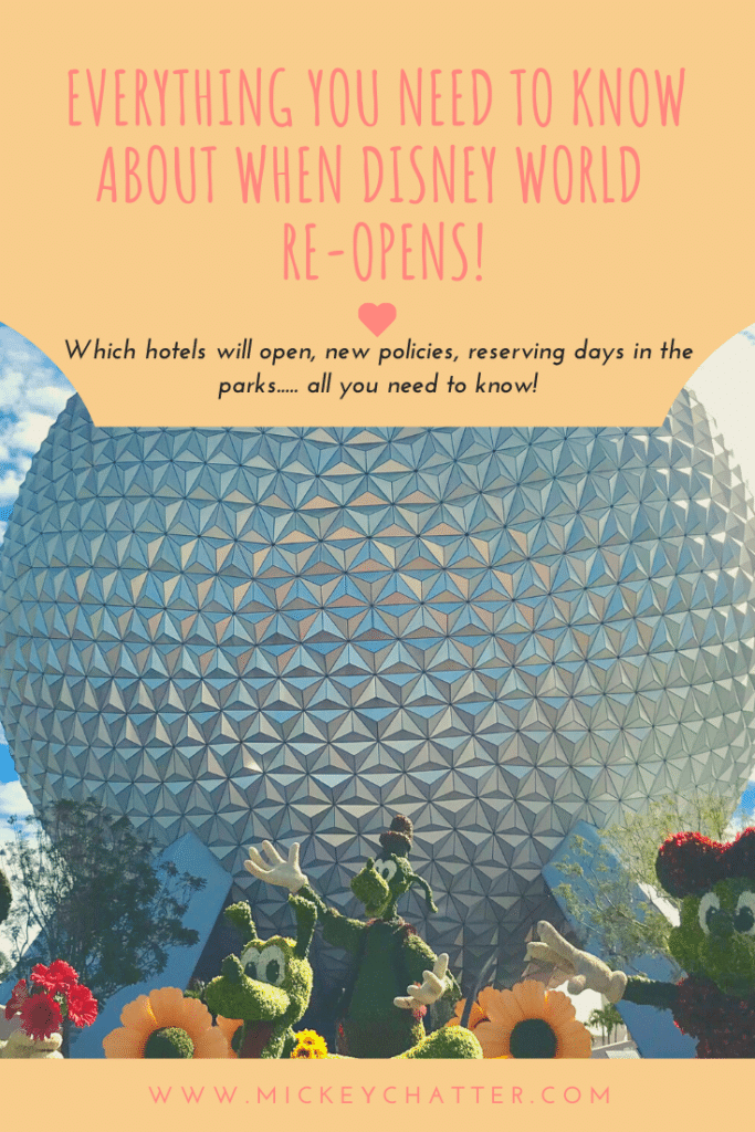 Disney World's Re-Opening, all the important details you need to know before planning a visit. #disneyworld #disneyplanning #disneytrip #disneyvacation #travelagent #disneytravelagent
