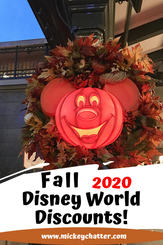 Fall 2020 Disney World Promotions, all the discounts you can take advantage of for the rest of 2020! #disneyworld #disney #disney2020 #disneytrip #disneyvacation #travelagent #disneytravelagent