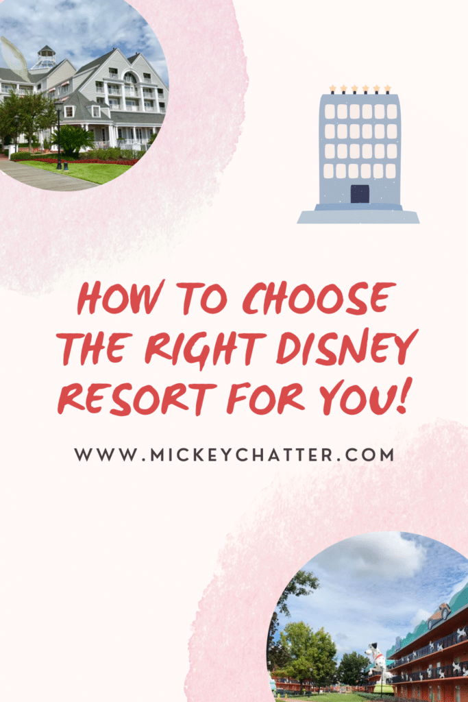 How to choose the best Disney World resort for you! #waltdisneyworld #disneyworld #disney #wdw #disneyresorts #disneyworldresorts #disneyplanning #disneytrip #disneyhotel #travelagent