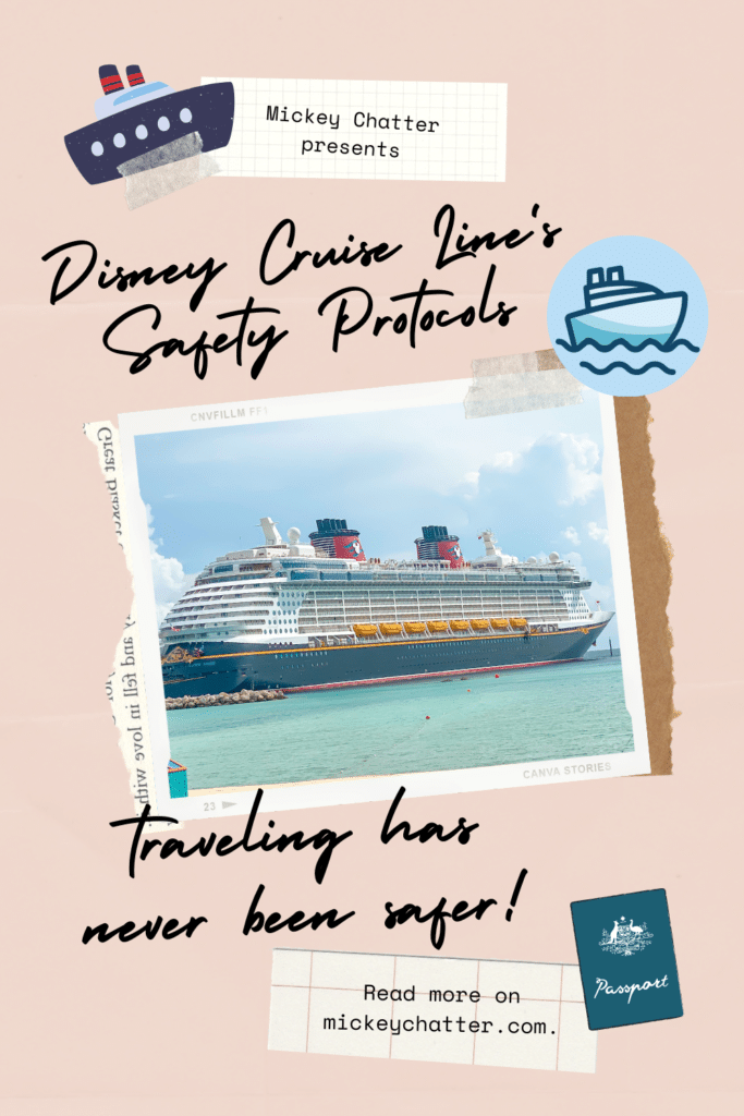 Get all the details about Disney Cruise Line's new safety protocols - the ships are some of the safest places to vacation right now! #dcl #disneycruiseline #travelagent #cruising #clickthemousetravel #disneydream